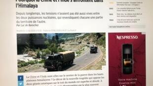 la Chine et l'Inde s'affrontent dans l'Himalaya 2020年6月