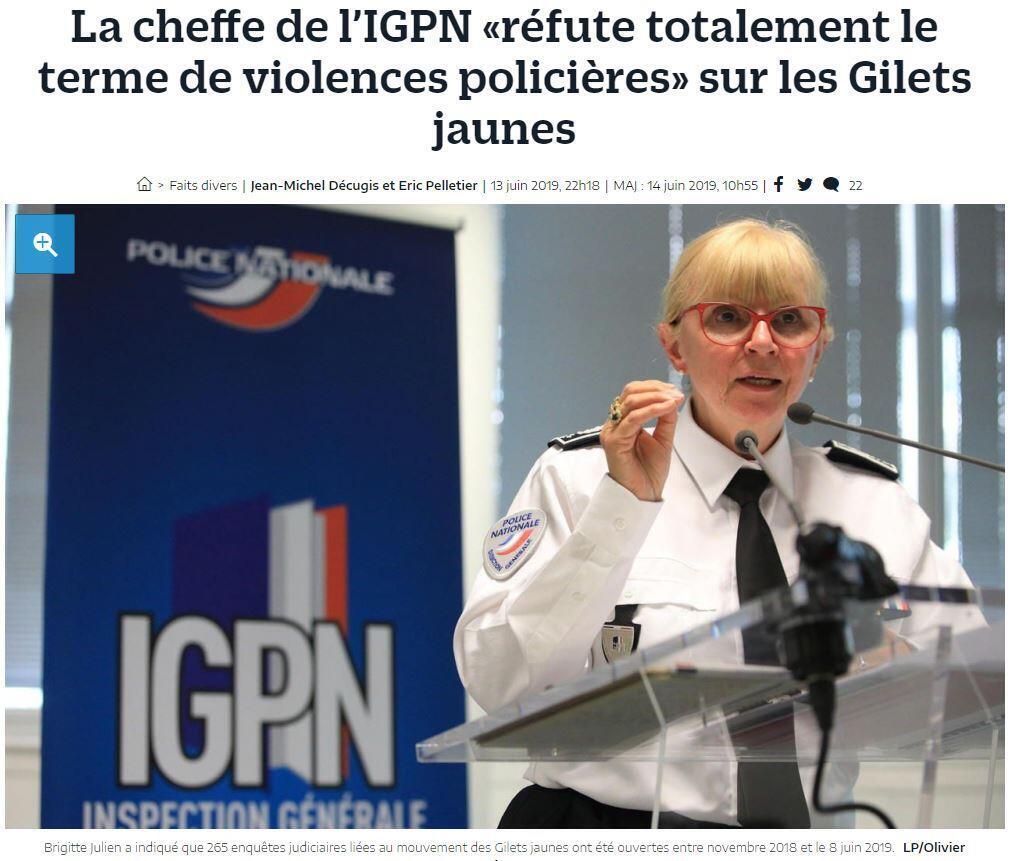 Иллюстрация в Le Parisien 14.06.2019