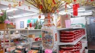 Một gian hàng Tết Việt Nam tại California.