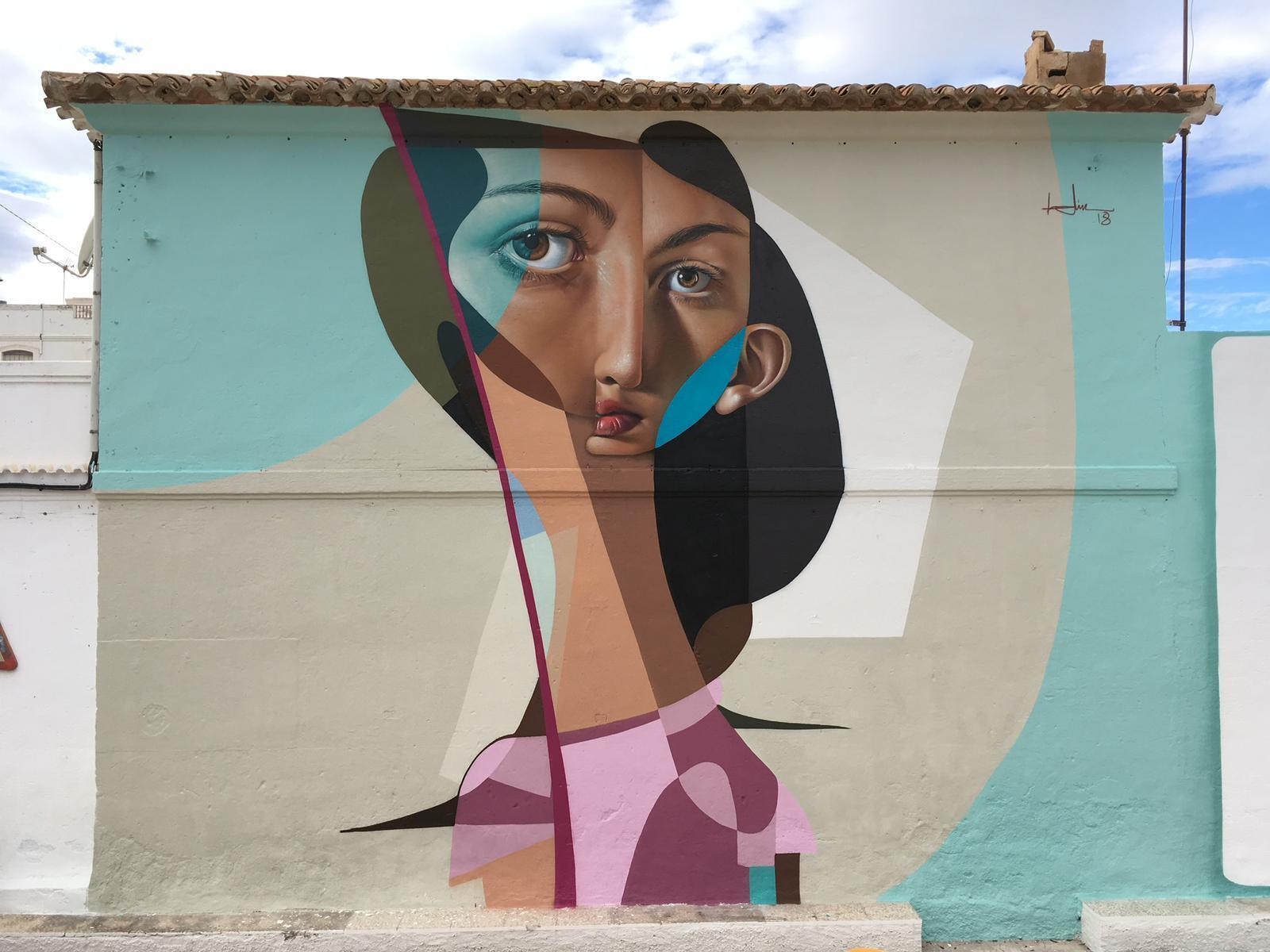 Mural contra la violencia de género. Pintado en Vera, Andalucía.