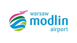 Le logo de l'aéroport de Varsovie-Modlin en Pologne.