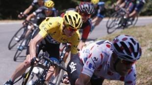11ème étape du Tour de France Pau-Cauterets, dans les Pyrénées, le 15 juillet 2015.