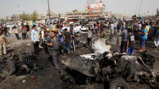 伊拉克进来受到的最致命袭击,巴格达北部什叶派聚居区萨德尔城受到自杀式汽车炸弹的打击.