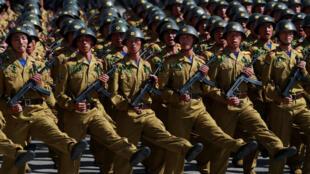 朝鲜庆祝国庆大阅兵没有展示弹道导弹。