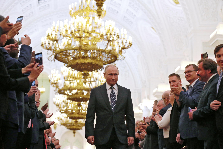 Vladimir Poutine, lors de son investiture pour un quatrième mandat à la tête de la Russie, le 7 mai 2018.