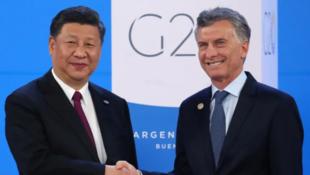 中阿兩國領導人G20峰會資料圖片