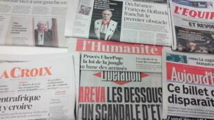 Primeiras páginas dos jornais franceses de 11 de fevereiro de 2016