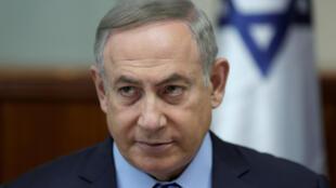 Primeiro-ministro israelita, Benjamin Netanyahu