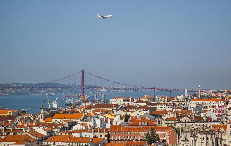 Vue générale de Lisbonne.