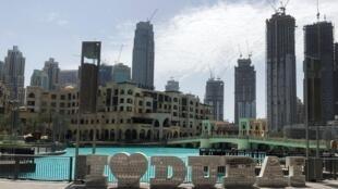 L'extérieur du centre commercial de Dubaï, le 3 mai 2020. De nombreux évènements internationaux, dont l'Exposition universelle de Dubaï ont été annulés en 2020 en raison de la pandémie (Image d'illustration)