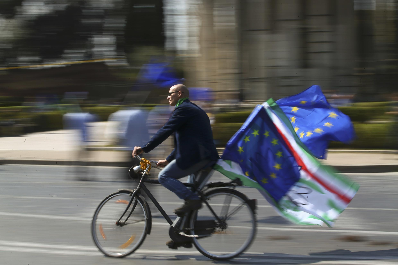 Biểu tượng chào mừng Liên Hiệp Châu Âu- Roma ngày 25/03/2017.