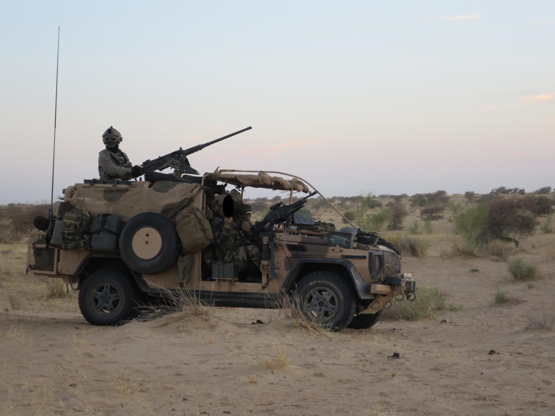 Patrouille des forces spéciales françaises près de Tombouctou au Mali.