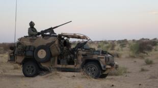 Patrouille des forces spéciales françaises près de Tombouctou, au Mali.