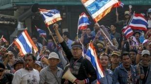 Антиправительственная манифестация в Бангкоке