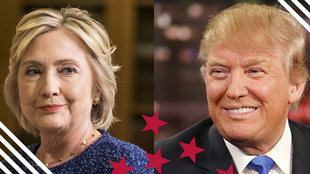 'Yan takarar shugaban kasar Amurka Hillary Clinton ta Democrat da Donald Trump na Republican