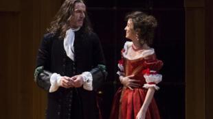 Lambert Wilson avec Pauline Cheviller, dans «Le Misanthrope» de Molière, mise en scène de Peter Stein.