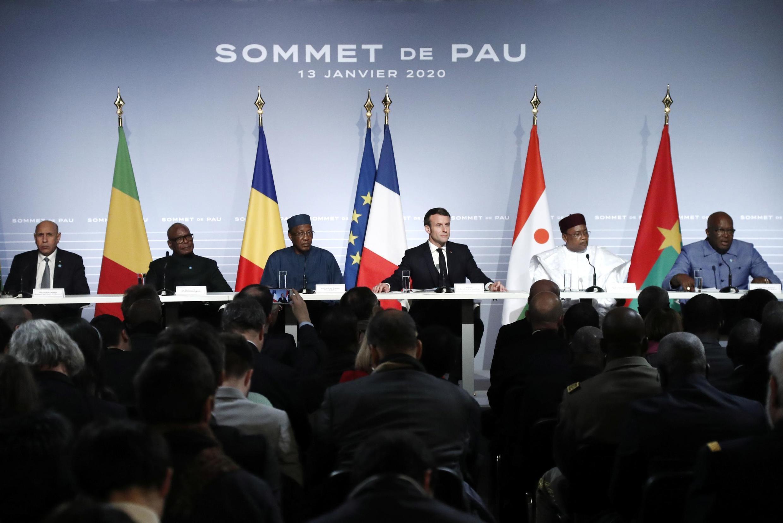 Shugaba Emmanuel Macron yayin wani taron G5 Sahel