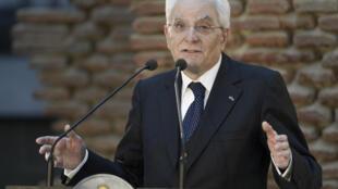 Le président italien Sergio Mattarella.