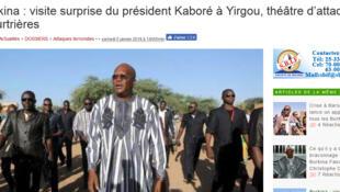 Roch marc Christian Kaboré Shugaban Burkina Faso a garin Yirgou