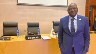 Aristides Gomes, primeiro-ministro guineense, na cimeira da CEDEAO de Addis Abeba a 9 de Fevereiro de 2020, na sede da União Africana.