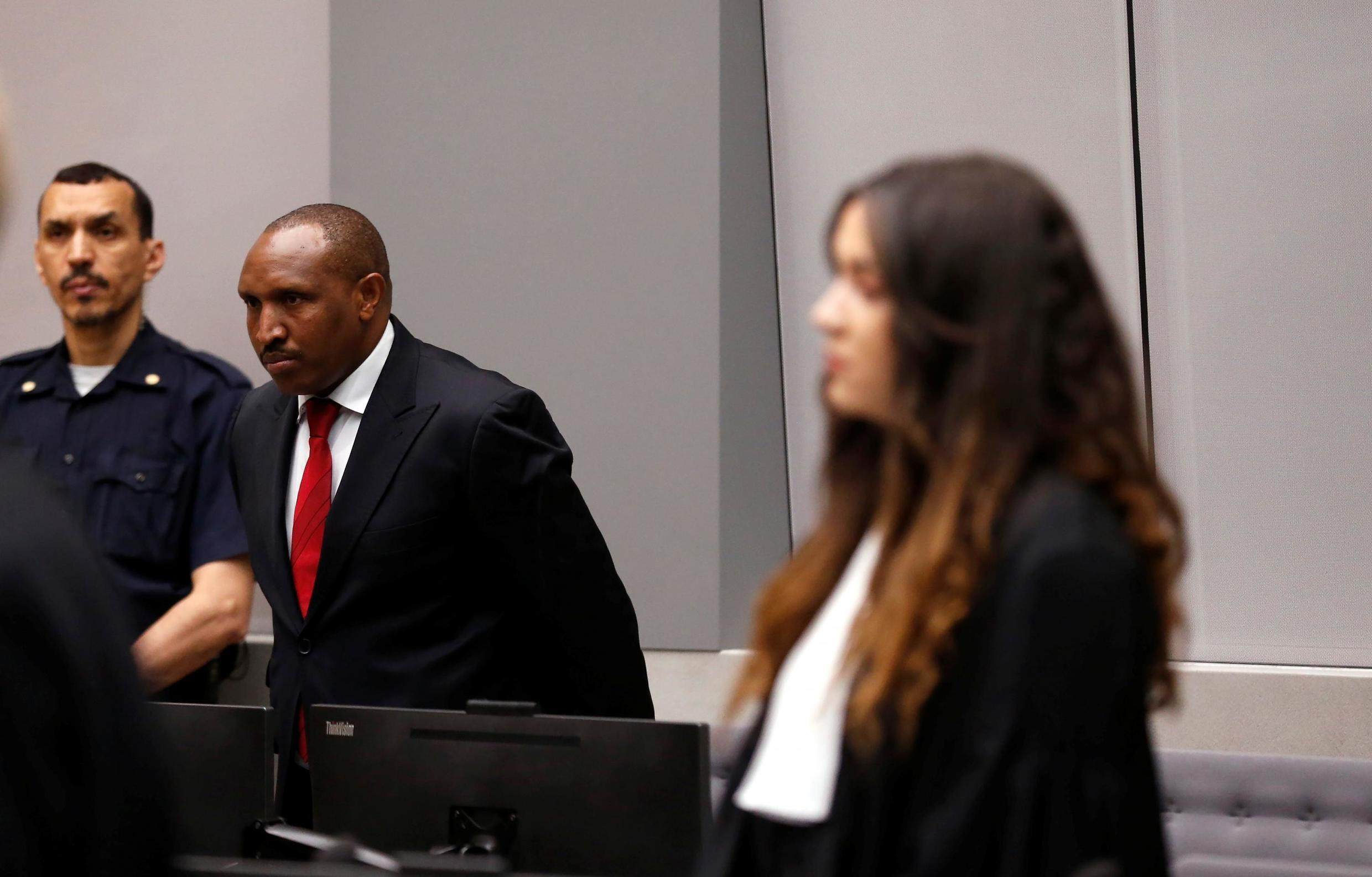 Congolese militia commander Bosco Ntaganda stands in the courtroom of the ICC (International Criminal Court) during his trial in the Hague, the Netherlands July 8, 2019.