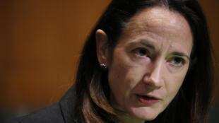 La nueva directora de Inteligencia Nacional de Estados Unidos, Avril Haines, habla durante su audiencia de confirmación en el Congreso, el 19 de enero de 2021