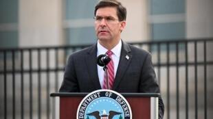 Le secrétaire d'État à la Défense Mark Esper, le 11 septembre 2020.