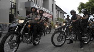 Cảnh sát ở Denpasar, Bali, Ảnh minh họa chụp ngày 18/12/2015.