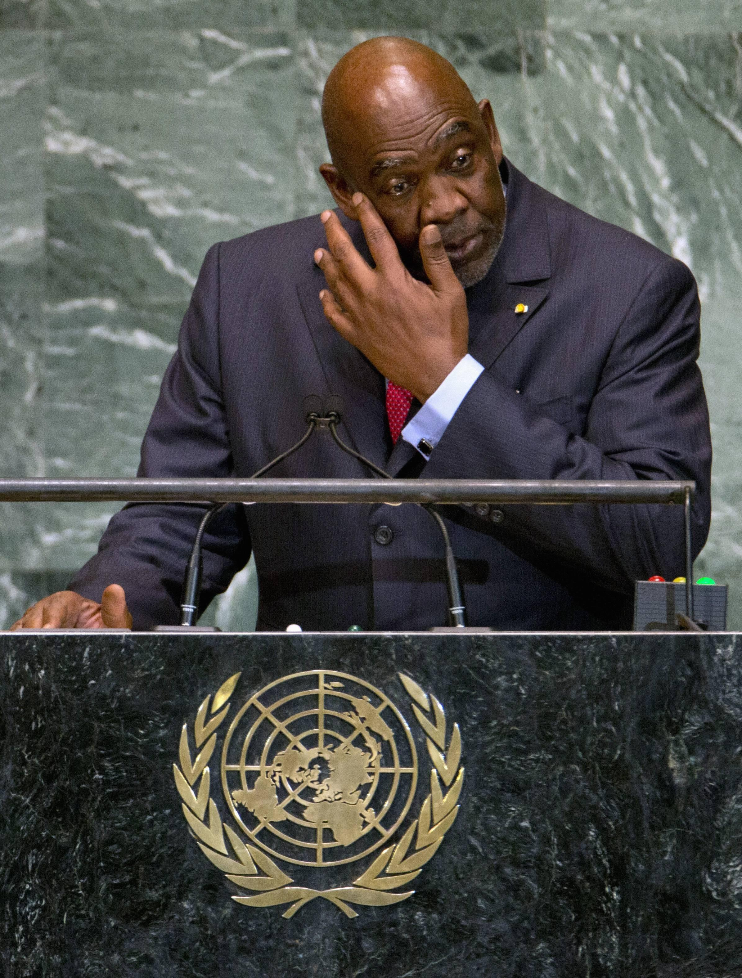 Le Premier ministre malien Cheick Modibo Diarra a eu du mal à contenir ses larmes à la tribune de l'ONU, le 26 septembre 2012.