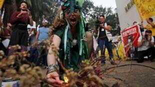 Манифестация в защиту амазонского леса в столице Бразилии, 23 августа 2019.