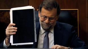 Primeiro-ministro espanhol, Mariano Rajoy, no parlamento.