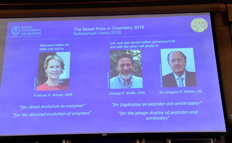 Портреты лауреатов Нобелевской премии по химии