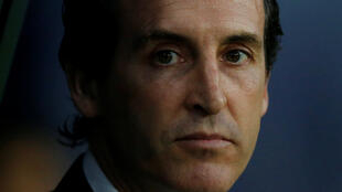 Soccer Football - Coupe de France - Semi-Final - Caen vs Paris St Germain - Stade Michel d'Ornano, Caen, France - April 18, 2018 Paris Saint-Germain coach Unai Emery