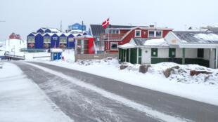 Sisimiut, segunda cidade da Gronelândia, no final de Março.