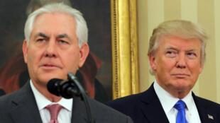 Tổng thống Trump dự lễ nhậm chức của tân ngoại trưởng Rex Tillerson ngày 01/02/2016 tại Nhà trắng.