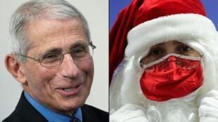 Anthony Fauci, o principal especialista em imunologistas do governo dos Estados Unidos, disse que ele próprio viajou para vacinar o Papai Noel.