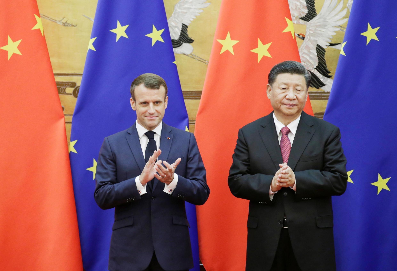 法國總統馬克龍與中國國家主席習近平2019年11月6日北京