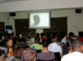 Burkina Faso. Projection des documentaires.