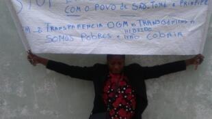 Elsa Garrido ambientalista são-tomense em greve de fome em Portugal desde 26/04/2017