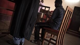 Kévin Béré Béré, lors de l'audience du 15 janvier 2020, devant la cour d'appel de Bangui.