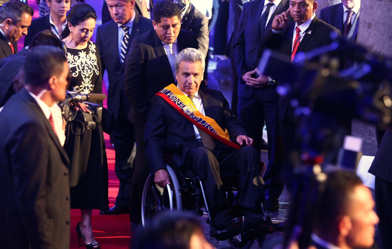 O presidente Lenin Moreno toma posse no Equador