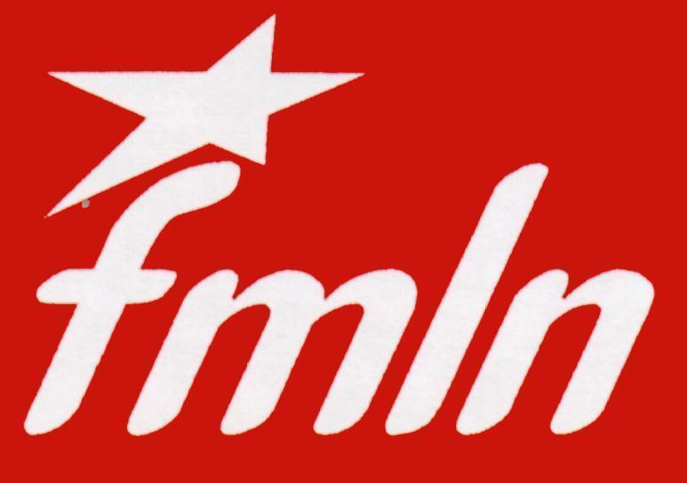 Bandera del FMLN, creado en 1980.