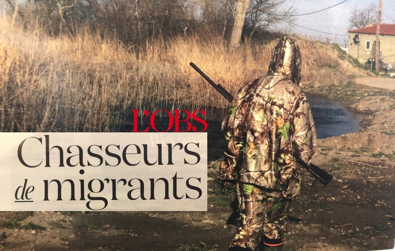 """""""Caçadores de migrantes"""" é o título da reportagem da revista l'Obs, que denuncia a presença de milícias armadas que perseguem refugiados na Grécia."""