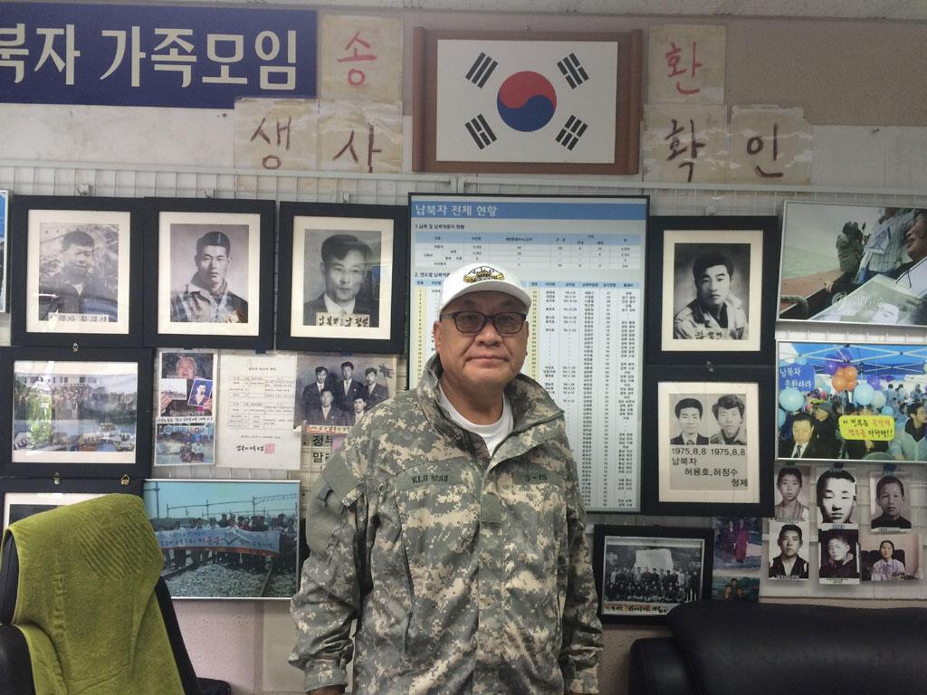 M. Choi Sung-young, président de l'Association des Familles de Victimes d'enlèvement, dans son bureau à Séoul.