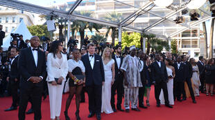 The delegation for the Cinémas du Monde on the red carpet