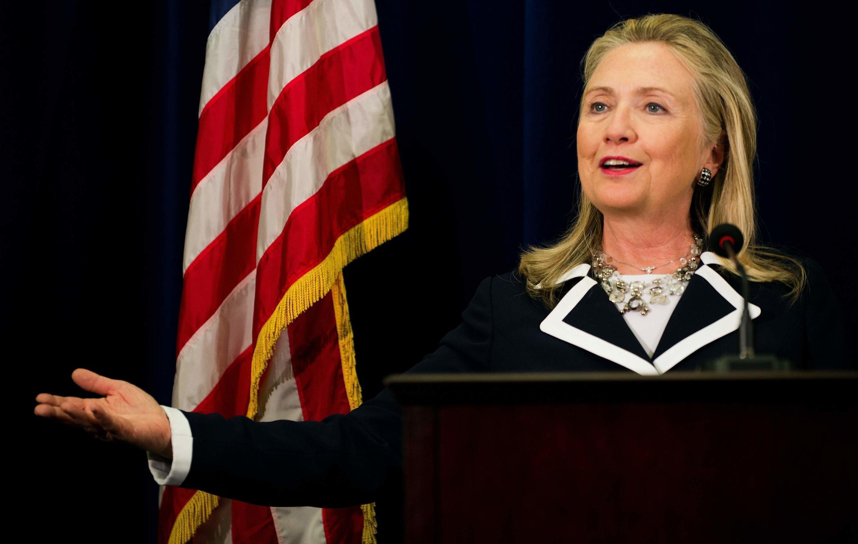 Ngoại trưởng Hillary Clinton trong cuộc họp báo tại lãnh sự Mỹ ở Vladivostok, 09/09/2012