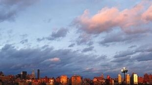 Manhattan skyline after the passage of Tropical Storm Irene