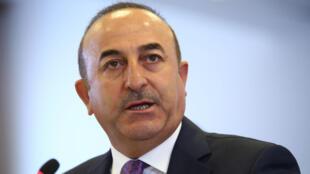 Mevlut Caviusoglu, ministro dos Negócios Estrangeiros turco