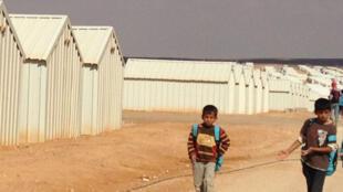 Camp de réfugiés syriens.