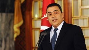 O novo primeiro-ministro da Tunísia, Mehdi Jomaa, durante sua cerimônia de posse, no dia 10 de janeiro.